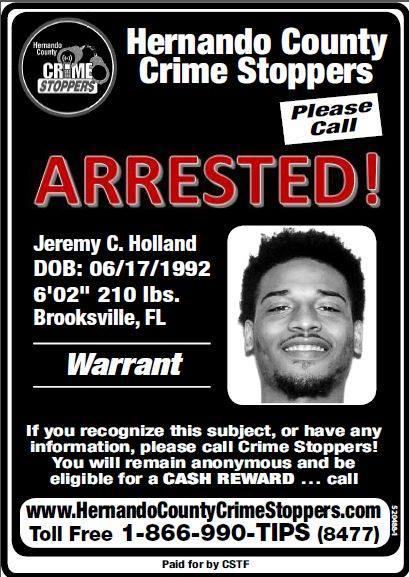 ARRESTED - Jeremy C  Holland - Hernando Today