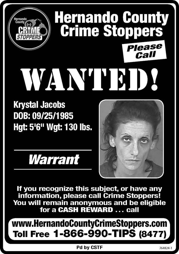 UPDATE - ARRESTED   Krystal Jacobs
