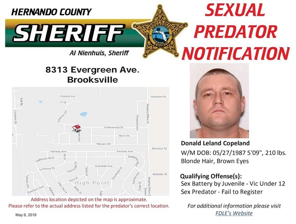 Sexual Predator Notification - Donald Leland Copeland
