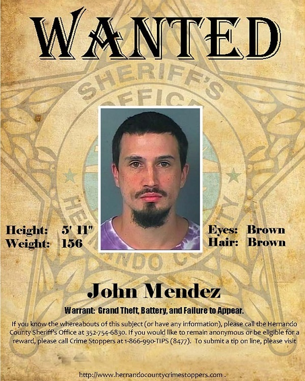 Probation & Parole Wanted Person John Mendez