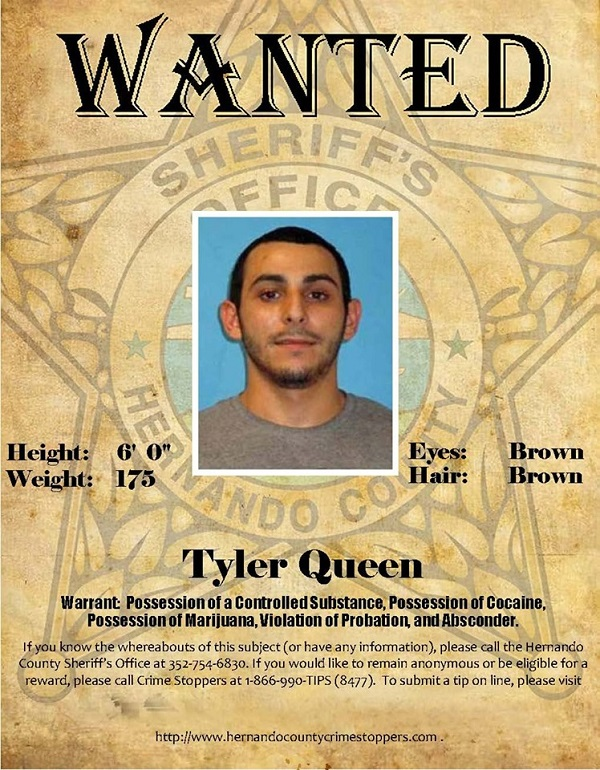 Probation & Parole Wanted Person - Tyler Queen