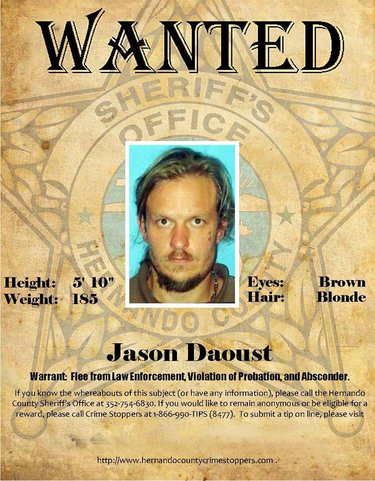 Probation & Parole Wanted Person - Jason Daoust