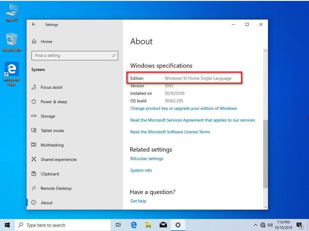 Free Windows 10 Home Key