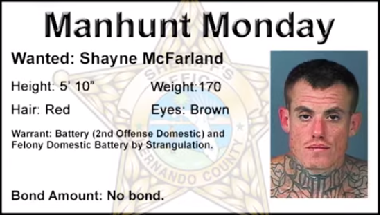 Manhunt Monday Shayne McFarland